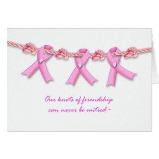 Estímulo para el enfermo de cáncer del pecho, rosa tarjetas