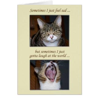 Estímulo para una enfermedad, gato lindo felicitacion