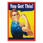 Estímulo - usted consiguió esto tarjeta de felicitación