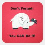 Estímulo: ¡Usted puede hacerlo! Calcomania Cuadradas Personalizada
