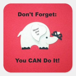 Estímulo: ¡Usted puede hacerlo! Pegatina Cuadrada
