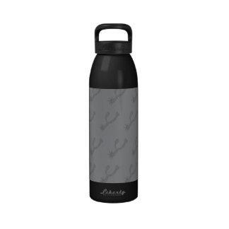Estímulos grises botellas de agua reutilizables