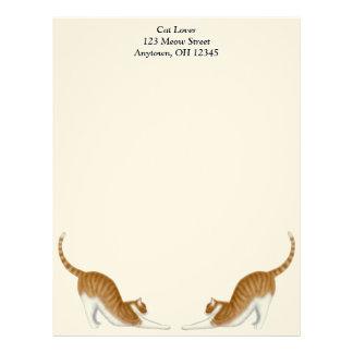 Estirar el papel con membrete de los gatos de Tabb Membrete A Diseño