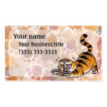 Estirar la tarjeta de visita del tigre