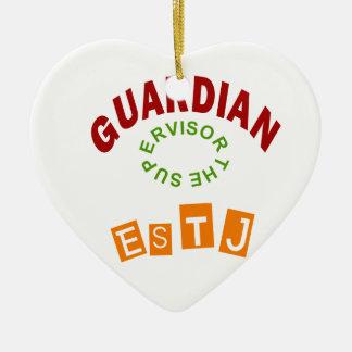 ESTJ Guardian personality type Ceramic Ornament