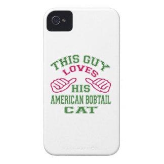 Esto ama su gato Bobtail americano iPhone 4 Case-Mate Protectores