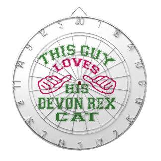 Esto ama su gato de Devon Rex Tabla Dardos
