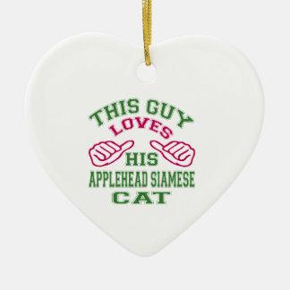 Esto ama su gato siamés de Applehead Adorno De Navidad