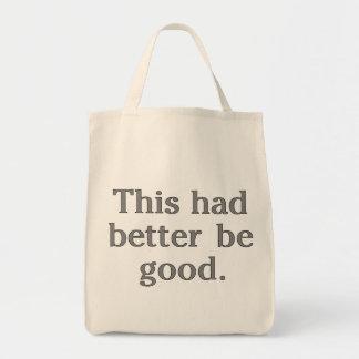 Esto debe ser bueno bolsa tela para la compra