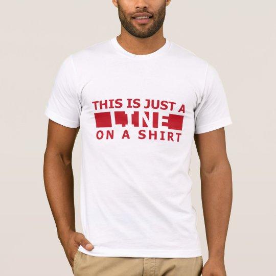 Esto es apenas una línea roja en una camisa