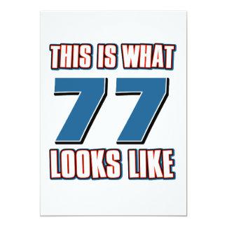 """Esto es de lo que tienen gusto 77 años de lool invitación 5"""" x 7"""""""