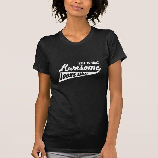 Esto es de lo que tienen gusto las miradas camisetas
