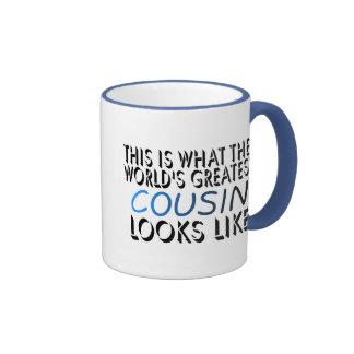 Esto es lo que el primo más grande del mundo taza de dos colores