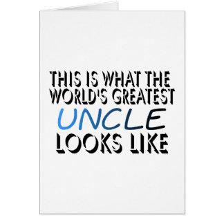Esto es lo que el tío más grande del mundo (2) tarjeta de felicitación