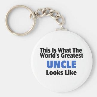 Esto es lo que el tío más grande Looks Lik del mun Llaveros Personalizados