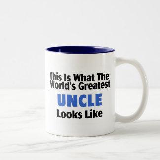 Esto es lo que el tío más grande Looks Lik del mun Taza Dos Tonos