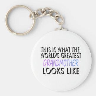 Esto es lo que la abuela más grande del mundo (2) llaveros personalizados