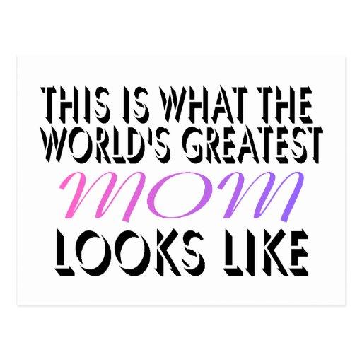 Esto es lo que la mamá más grande del mundo (2) postal