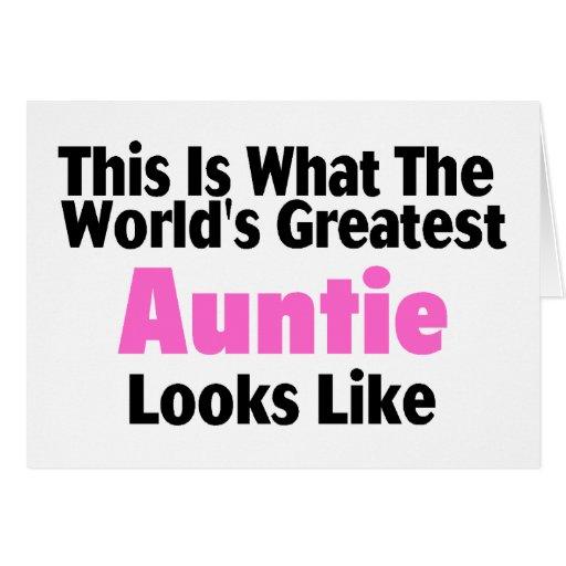 Esto es lo que la tía más grande Looks Li del mund Tarjeta De Felicitación