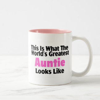 Esto es lo que la tía más grande Looks Li del mund Taza Dos Tonos