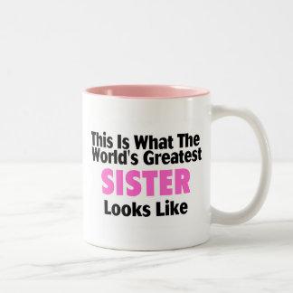 Esto es lo que mira la hermana más grande del mund tazas de café