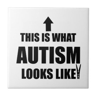 ¡Esto es lo que parece el autismo! Azulejo Cuadrado Pequeño