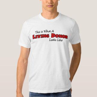 Esto es lo que parece un donante vivo camisas