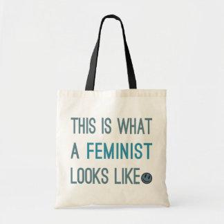 Esto es lo que parece una feminista bolsos bolsa lienzo
