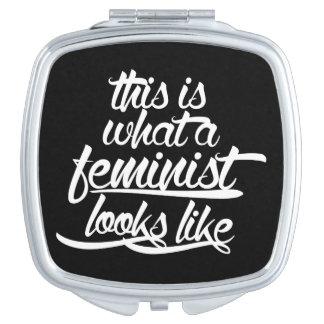 Esto es lo que parece una feminista espejo de maquillaje