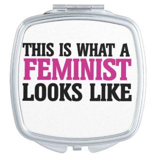 Esto es lo que parece una feminista espejos maquillaje
