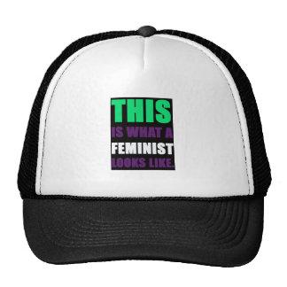 Esto es lo que parece una feminista gorros bordados