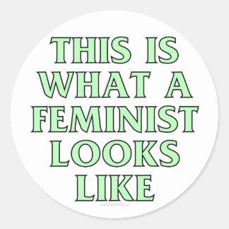 Esto es lo que parece una feminista pegatina redonda