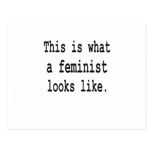 Esto es lo que parece una feminista postales