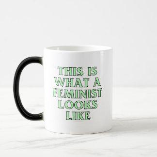 Esto es lo que parece una feminista taza mágica