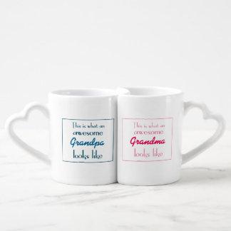 Esto es lo que parecen los abuelos impresionantes taza amorosa