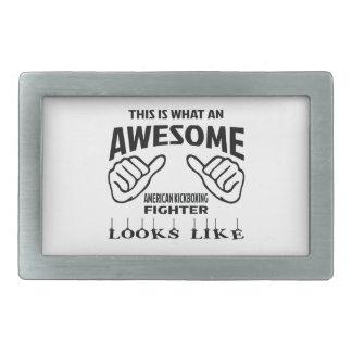Esto es lo que un Fighte kickboxing americano Hebilla Cinturon Rectangular
