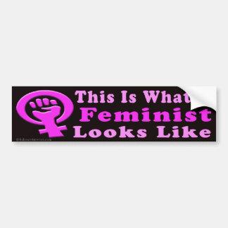 Esto es pegatina para el parachoques feminista pegatina para auto