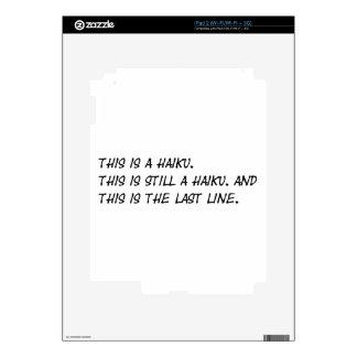 """""""Esto es poema divertido de un Haiku"""" - Meme Calcomanías Para El iPad 2"""