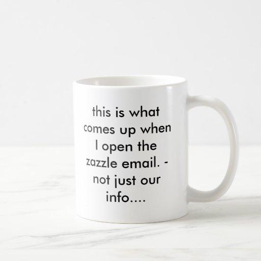 esto es qué sube cuando abro el em del zazzle… taza básica blanca