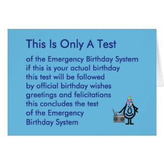 Esto es solamente una prueba - un poema divertido tarjeta de felicitación