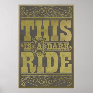 Esto es un paseo oscuro posters