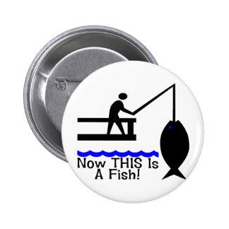 ESTO es un pescado Pin Redondo 5 Cm