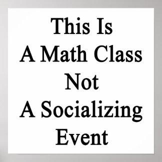 Esto es una clase de la matemáticas no un póster