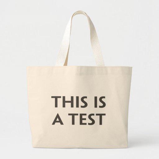 Esto es una prueba bolsa de mano