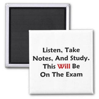 Esto estará en el examen imán cuadrado