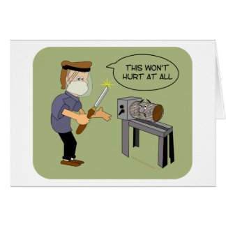 Esto no dañará el dibujo animado divertido de tarjeta de felicitación