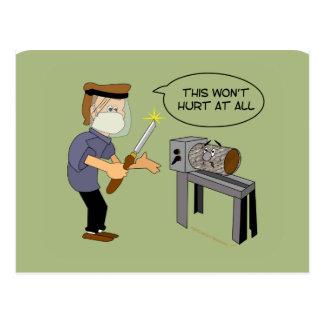Esto no dañará el dibujo animado divertido de Wood Postal