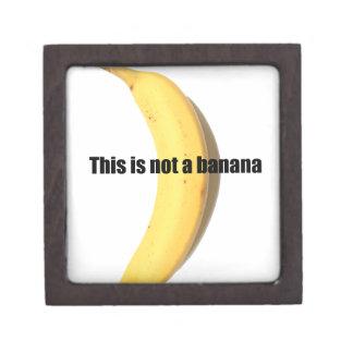 Esto no es un plátano cajas de recuerdo de calidad