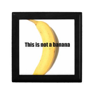 Esto no es un plátano caja de joyas