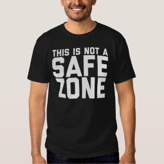 Esto no es una camiseta segura de la zona camisas